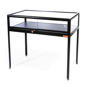Vitrine table noire 60 cm x 102 cm