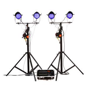 Kit de 4 projecteurs à leds avec pupitre