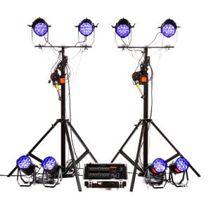 Kit de 8 projecteurs à leds avec pupitre