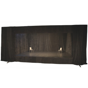 Kit scène 8 m x 6 m  ht 80 cm avec rideaux