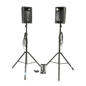 Ensemble de sonorisation 2 x 150 W
