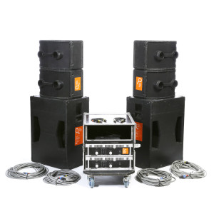 Ensemble Bose 4 x 802 + 2 x 302 avec amplis