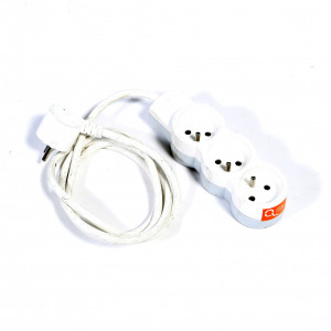 Multiprise avec câble 3x1.5 mm² 10A